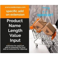 Product Name Length Value Input for Opencart
