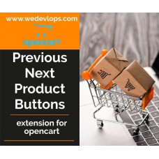 Previous next product buttons
