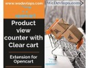 Product view counter with clear cart