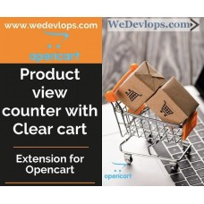Product View Counter and Clear Cart