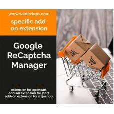 Google ReCaptcha Manager