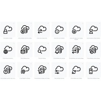 Cloud Icons set with transparent background svg