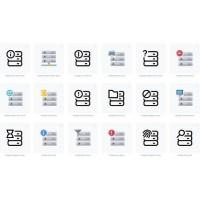 Storage Server Icon with transparent background svg