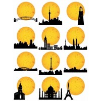 Silhouette vector images in svg format Buildings and Landmarks