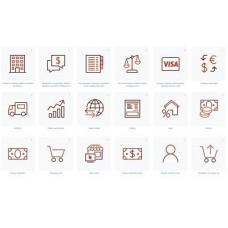 Red Maroon Icon with transparent background png and svg