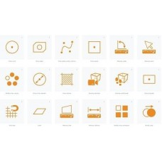 Orange CAD Icon with transparent background svg