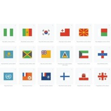 World flags Icon with transparent background in svg format