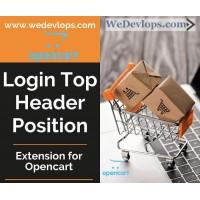 Login to Header top position