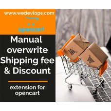 Manual Overwrite shipping fee and Discount