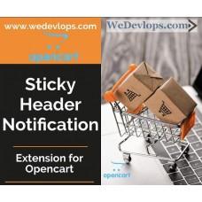 Sticky Header Notification