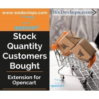 Stock Quantity in numbers and Bought Customers counting